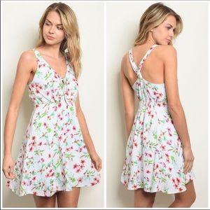 White floral Mini Dress.